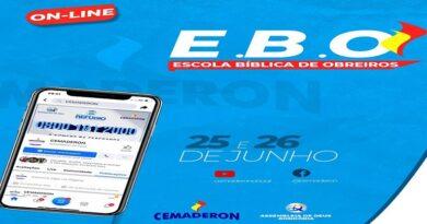 Vem ai… EBO- Escola Bíblica de Obreiros  – dias 25 e 26 de Junho de 2021